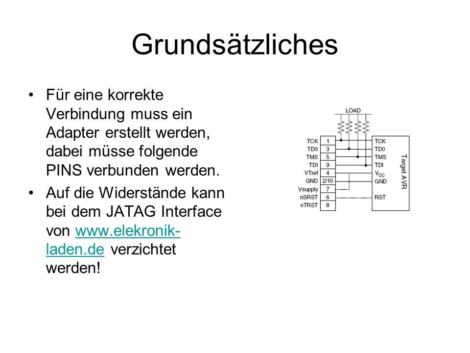 JTAG Jeder ATmega wird von Werk aus mit JTAG enabeld ausgeliefert.