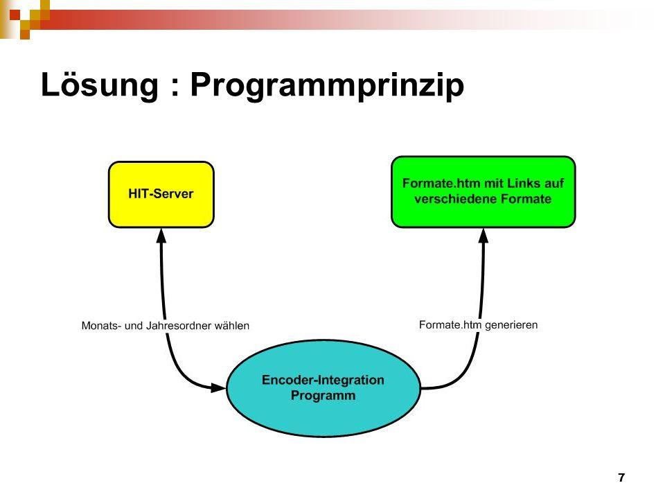 7 Lösung : Programmprinzip