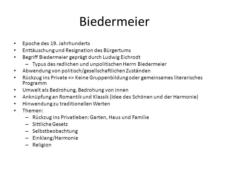 Biedermeier Epoche des 19.