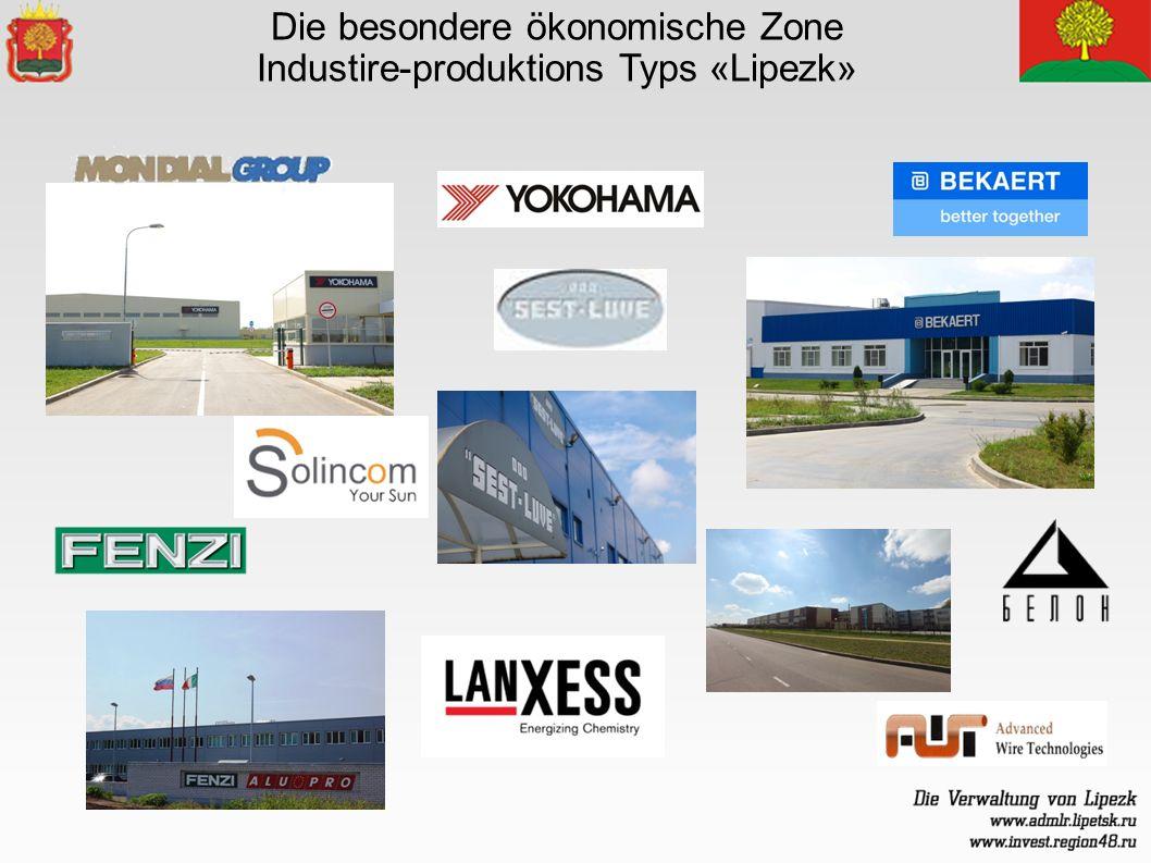 Die besondere ökonomische Zone Industire-produktions Typs «Lipezk»