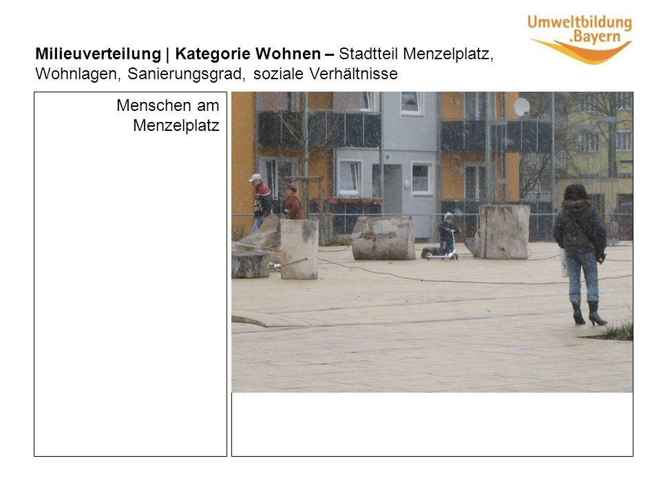 Milieuverteilung | Kategorie Wohnen – Stadtteil Menzelplatz, Wohnlagen, Sanierungsgrad, soziale Verhältnisse