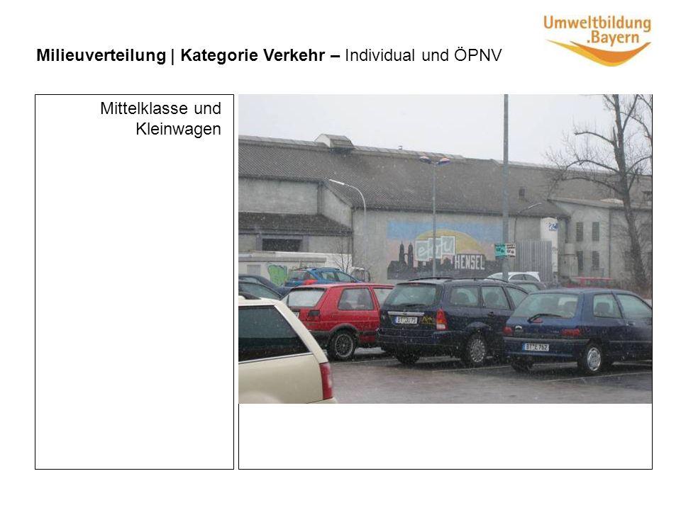 Milieuverteilung | Kategorie Verkehr – Individual und ÖPNV Mittelklasse und Kleinwagen