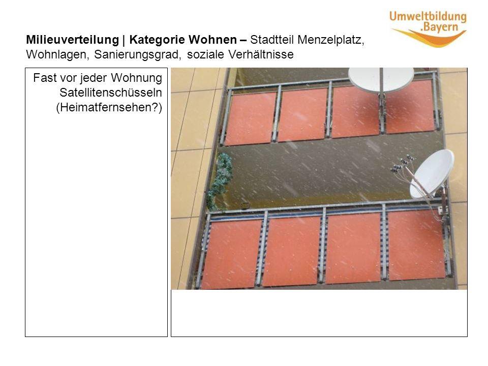 Räder stehen ordentlich in Ständern Milieuverteilung | Kategorie Wohnen – Stadtteil Menzelplatz, Wohnlagen, Sanierungsgrad, soziale Verhältnisse