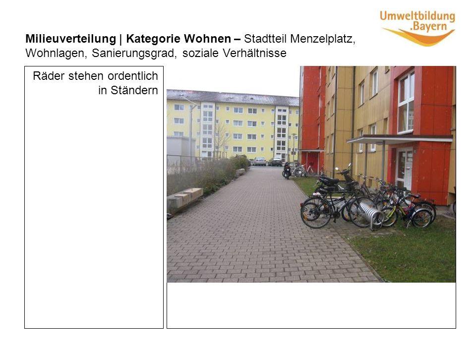 Pflanzen im Treppenhaus, die gepflegt werden Milieuverteilung | Kategorie Wohnen – Stadtteil Menzelplatz, Wohnlagen, Sanierungsgrad, soziale Verhältnisse