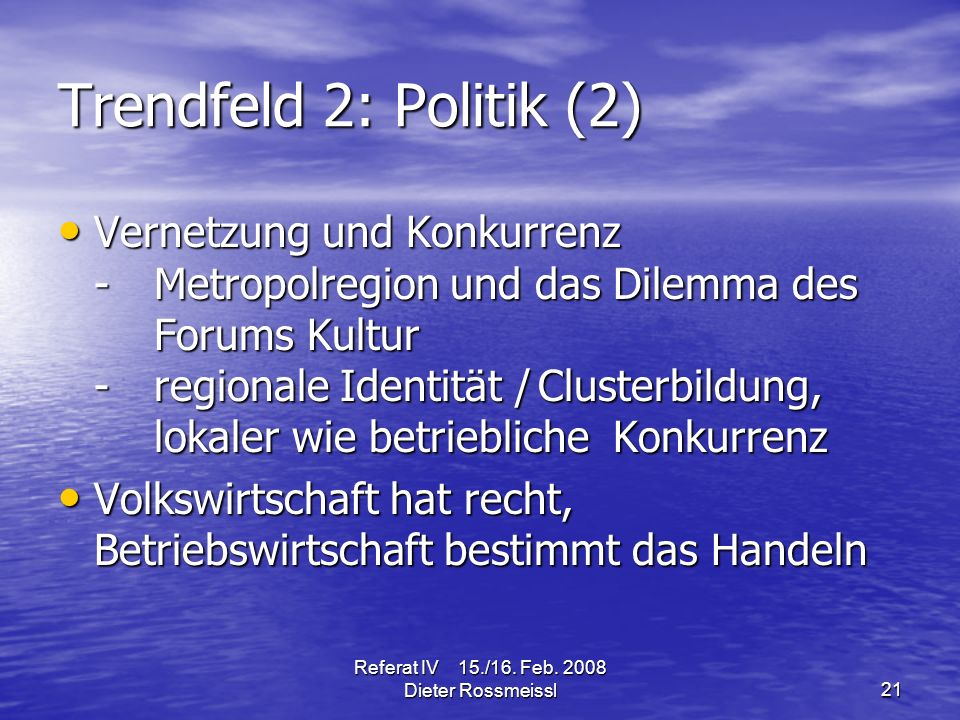 Referat IV 15./16. Feb.