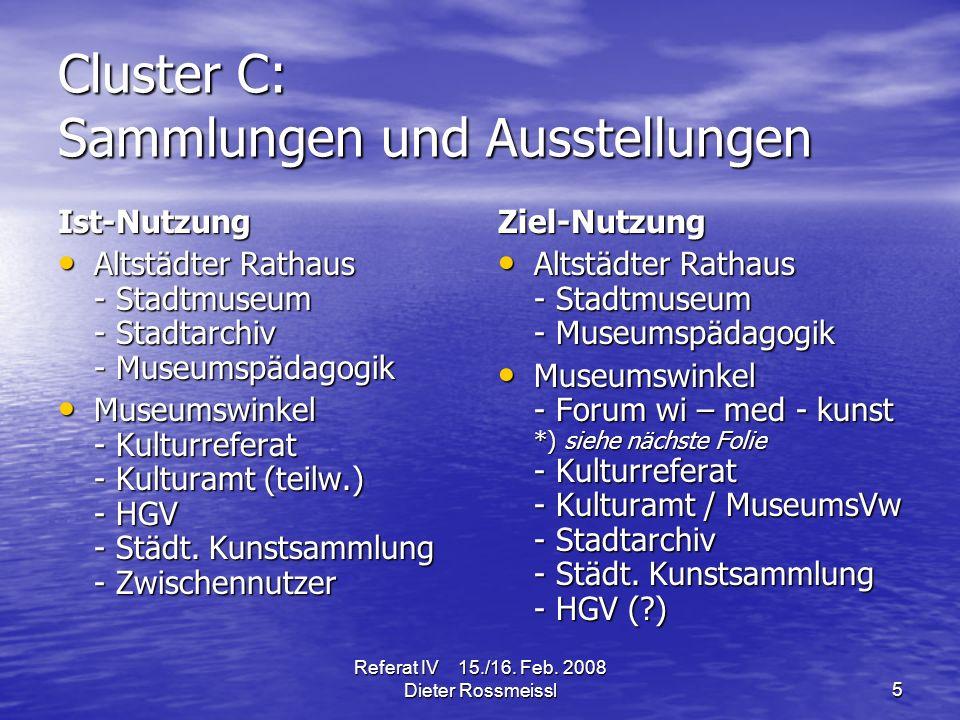 Referat IV 15./16.Feb. 2008 Dieter Rossmeissl 16 3.