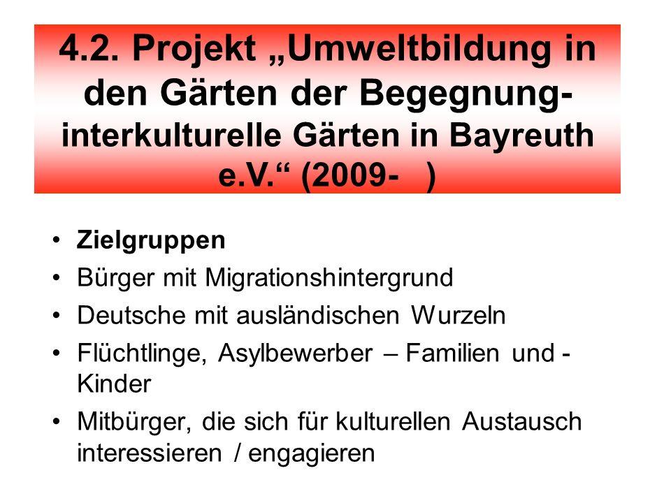 Projekt Zielgruppen Bürger mit Migrationshintergrund Deutsche mit ausländischen Wurzeln Flüchtlinge, Asylbewerber – Familien und - Kinder Mitbürger, d
