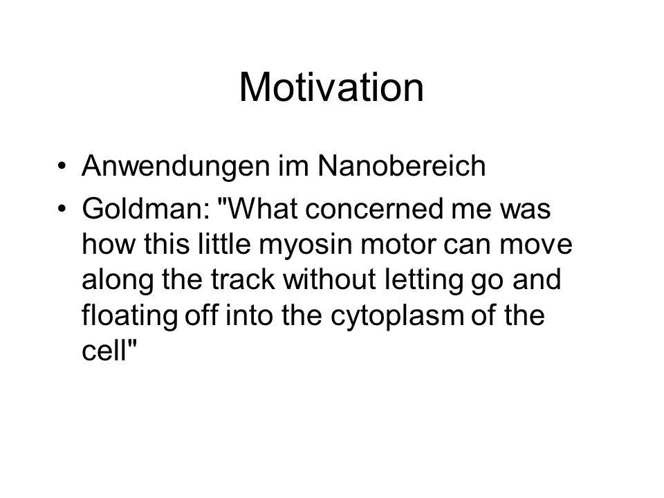 Motivation Anwendungen im Nanobereich Goldman: