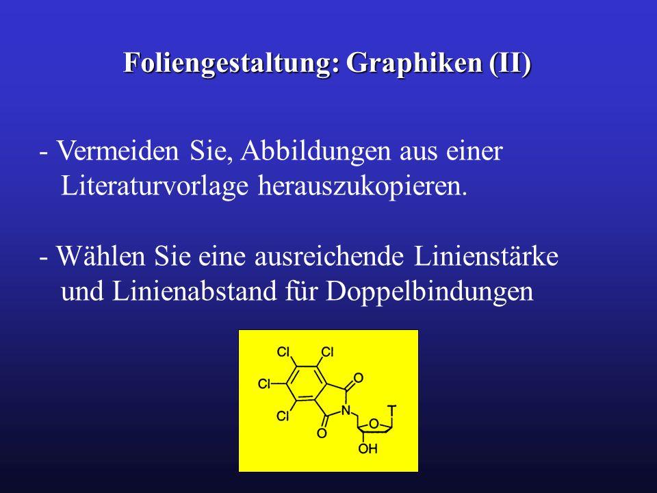 Foliengestaltung: Graphiken (II) - Vermeiden Sie, Abbildungen aus einer Literaturvorlage herauszukopieren. - Wählen Sie eine ausreichende Linienstärke