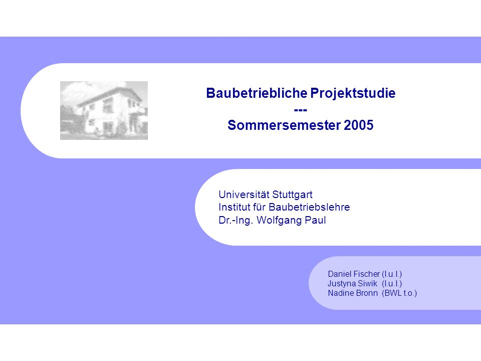 Fischer, Siwik, Bronn Sommersemester 2005 22 2.