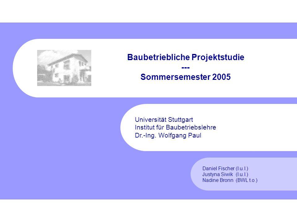 Fischer, Siwik, Bronn Sommersemester 2005 2 Gliederung 1.