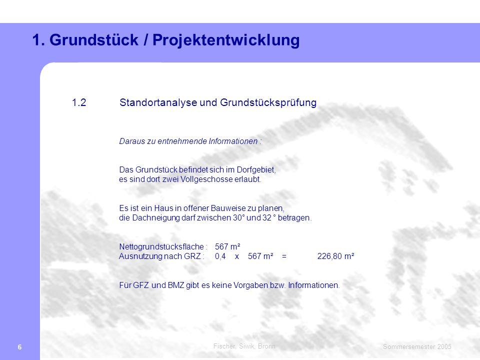 Fischer, Siwik, Bronn Sommersemester 2005 7 1.