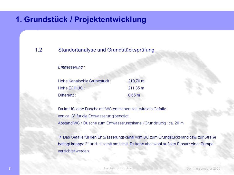 Fischer, Siwik, Bronn Sommersemester 2005 8 1.