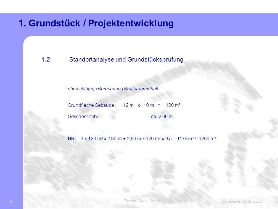 Fischer, Siwik, Bronn Sommersemester 2005 19 Gliederung 1.
