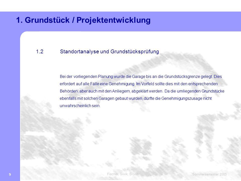 Fischer, Siwik, Bronn Sommersemester 2005 10 1.
