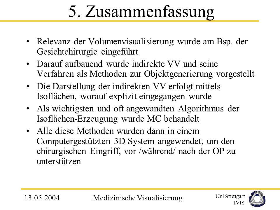 Uni Stuttgart IVIS 13.05.2004Medizinische Visualisierung FE Modell