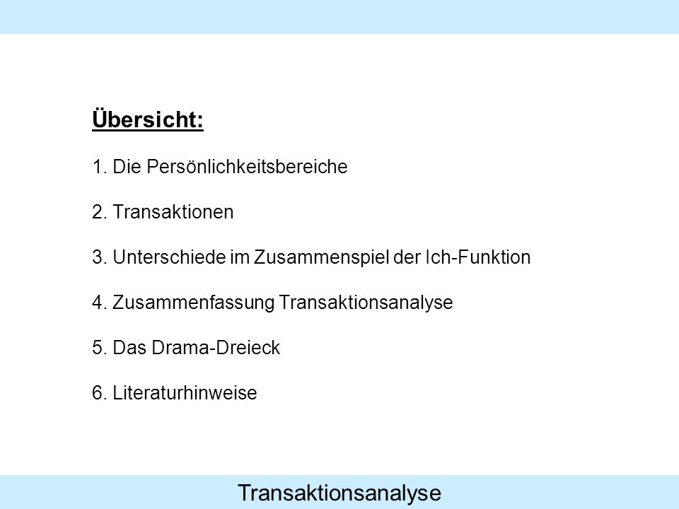 Transaktionsanalyse 1.3.