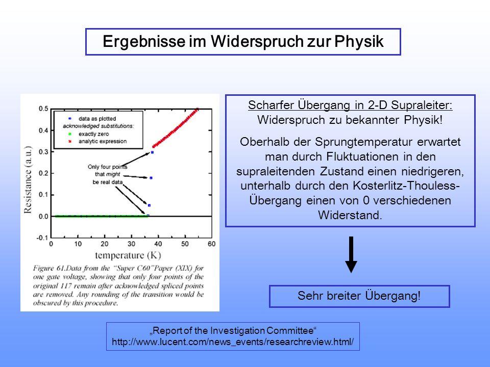 Durchbruchsfeldstärke:E D ~ -log A E D ~ 1/T Zeit bis Durchbruch: t D ~J -1 ~ exp(- E) Kleine Flächen, tiefe Temperaturen, kurze Messzeiten, sehr geri