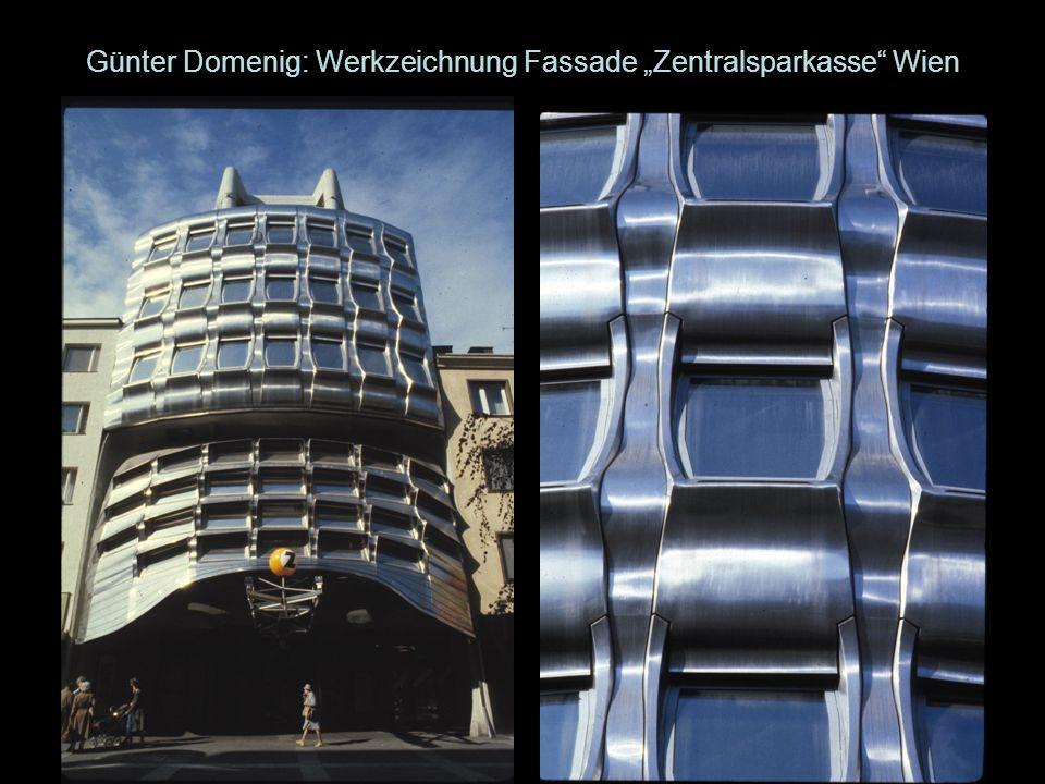 Günter Domenig: Werkzeichnung Fassade Zentralsparkasse Wien