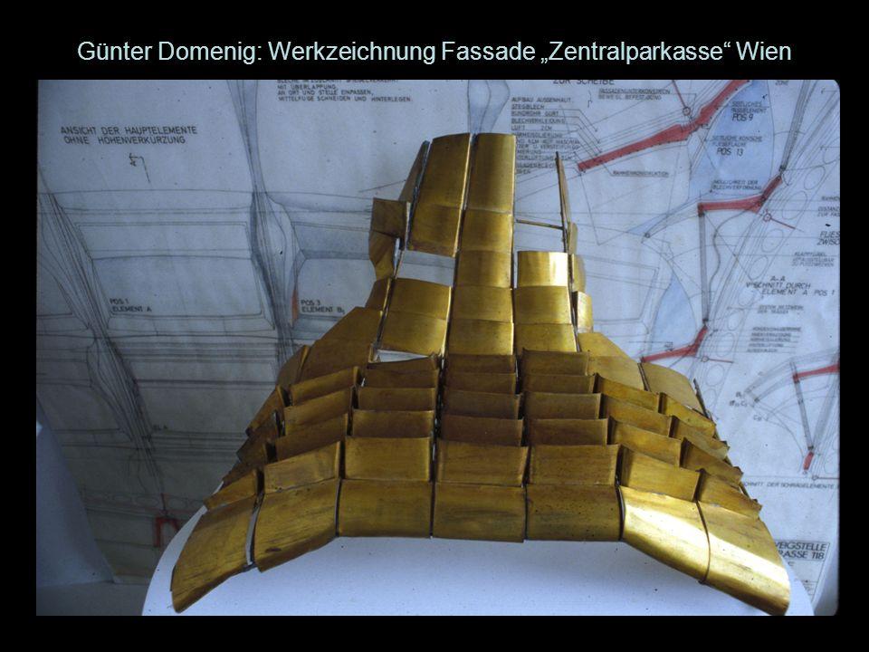 Günter Domenig: Werkzeichnung Fassade Zentralparkasse Wien