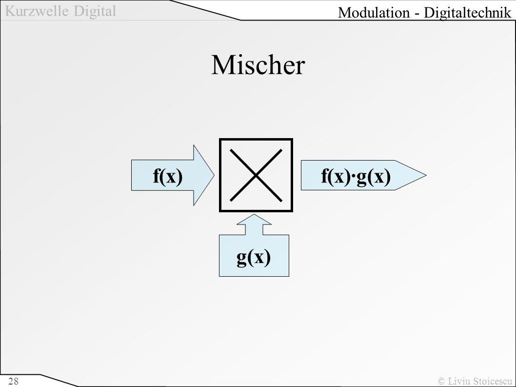 Kurzwelle Digital © Liviu Stoicescu28 Mischer g(x) f(x) f(x)·g(x) Modulation - Digitaltechnik