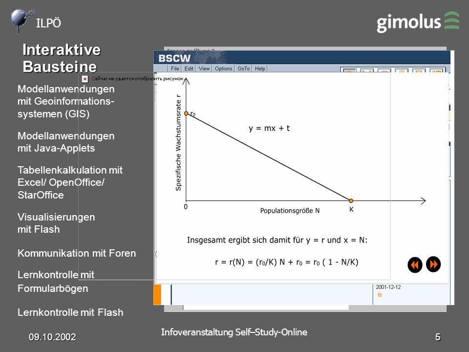 ILPÖ Infoveranstaltung Self–Study-Online 09.10.2002 6 Vielen Dank für die Aufmerksamkeit .