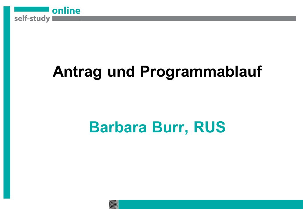 Antrag und Programmablauf Barbara Burr, RUS