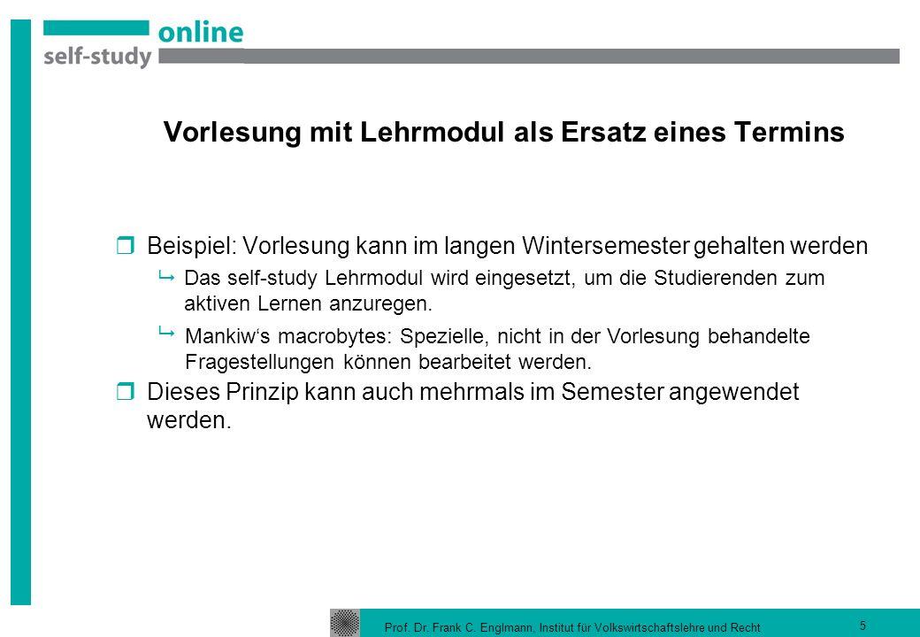 Hybride Veranstaltung / blended learning Präsenztermin Self-study Lehrmodul