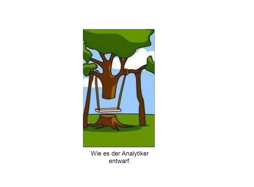 Institut für Grundlagen der Planung– Universität Stuttgart Institute for the Foundations of Planning – University of Stuttgart Wie es der Analytiker entwarf.