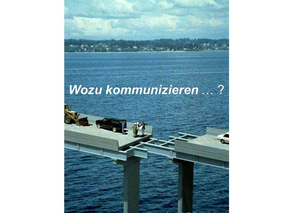 Institut für Grundlagen der Planung– Universität Stuttgart Institute for the Foundations of Planning – University of Stuttgart Wozu kommunizieren … ?