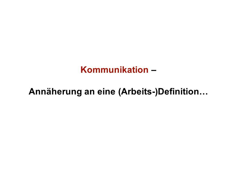 Institut für Grundlagen der Planung– Universität Stuttgart Institute for the Foundations of Planning – University of Stuttgart Kommunikation – Annäherung an eine (Arbeits-)Definition…