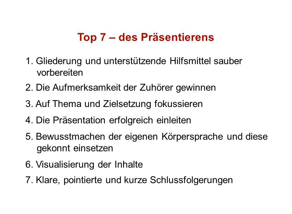 Institut für Grundlagen der Planung– Universität Stuttgart Institute for the Foundations of Planning – University of Stuttgart Top 7 – des Präsentierens 1.