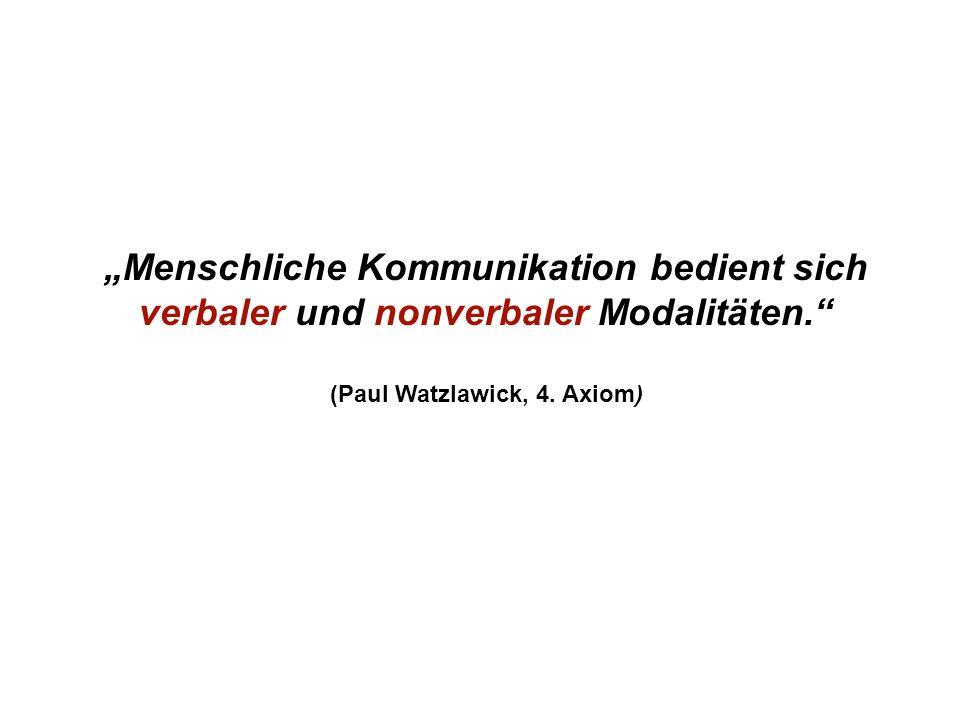 Institut für Grundlagen der Planung– Universität Stuttgart Institute for the Foundations of Planning – University of Stuttgart Menschliche Kommunikation bedient sich verbaler und nonverbaler Modalitäten.