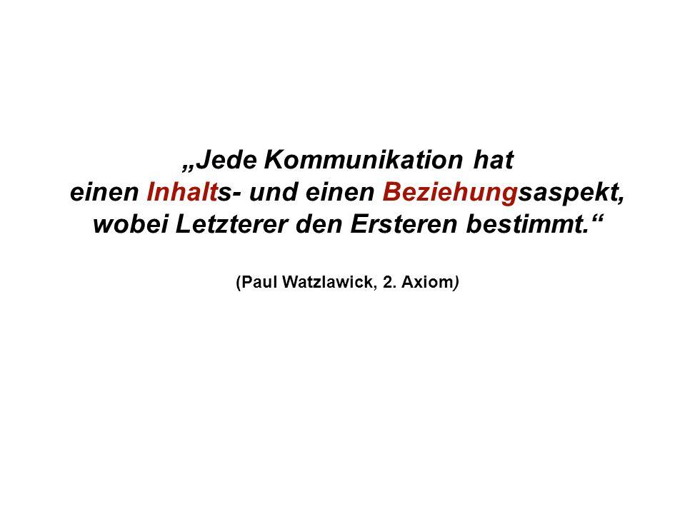 Institut für Grundlagen der Planung– Universität Stuttgart Institute for the Foundations of Planning – University of Stuttgart Jede Kommunikation hat einen Inhalts- und einen Beziehungsaspekt, wobei Letzterer den Ersteren bestimmt.