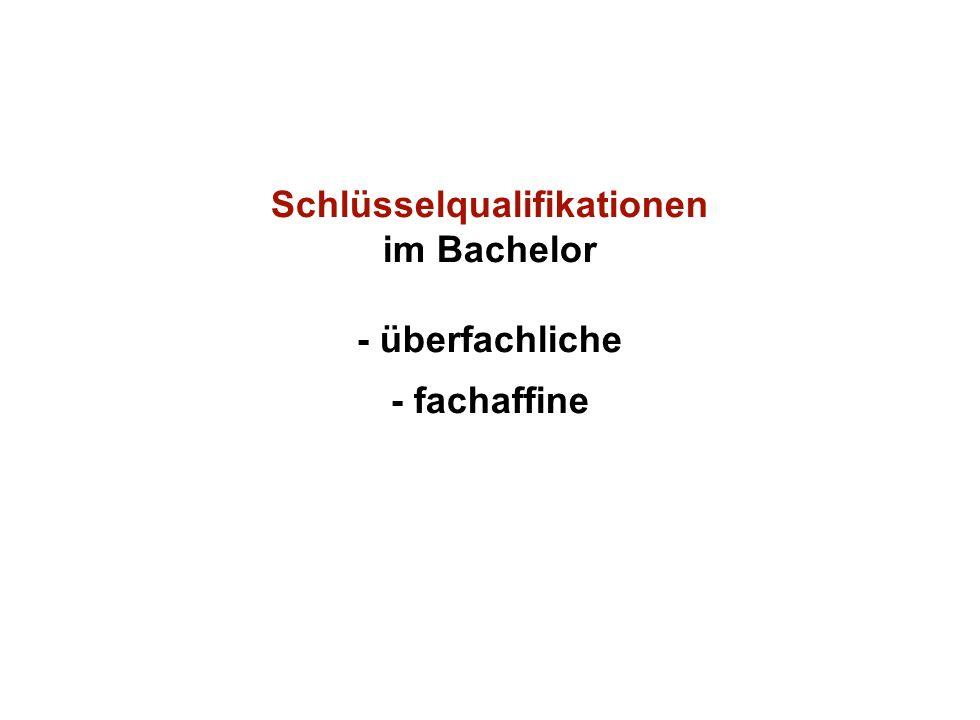 Institut für Grundlagen der Planung– Universität Stuttgart Institute for the Foundations of Planning – University of Stuttgart Schlüsselqualifikationen im Bachelor - überfachliche - fachaffine