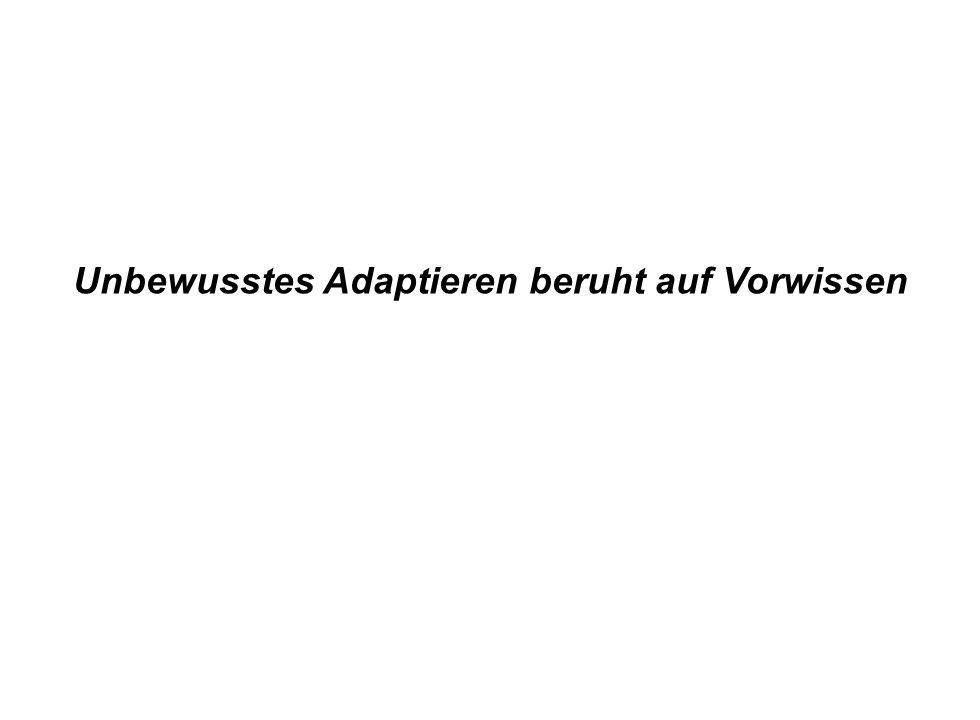 Institut für Grundlagen der Planung– Universität Stuttgart Institute for the Foundations of Planning – University of Stuttgart Unbewusstes Adaptieren beruht auf Vorwissen
