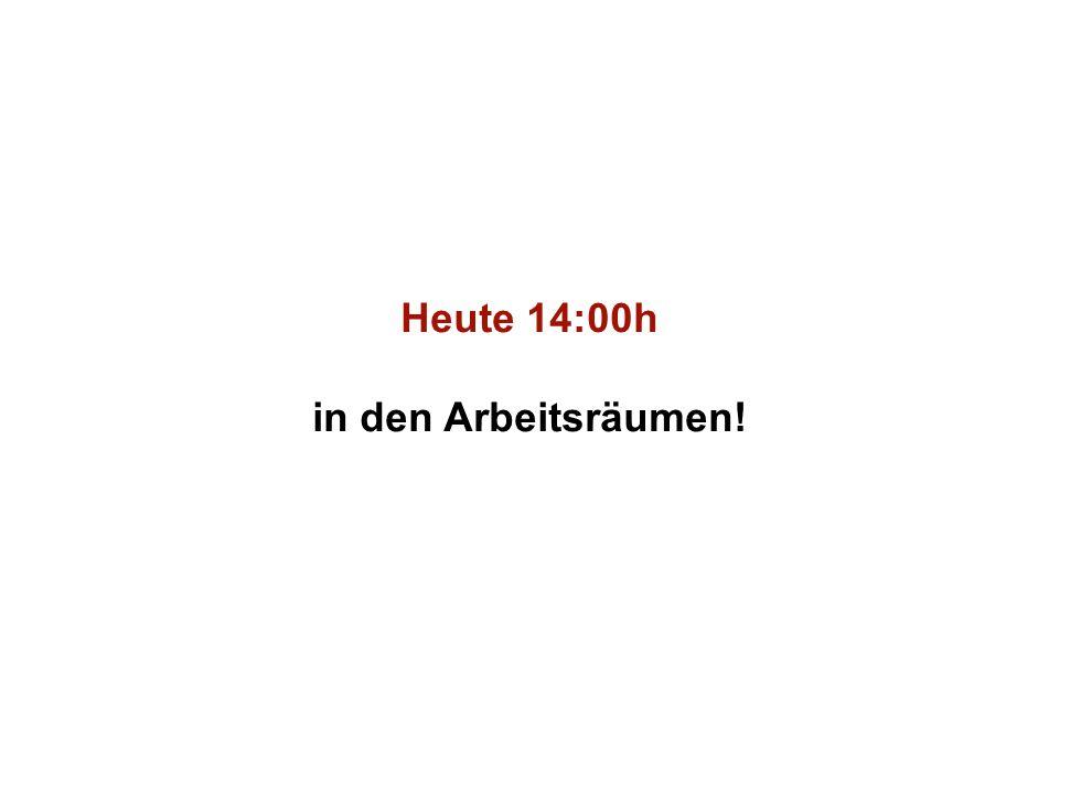 Institut für Grundlagen der Planung– Universität Stuttgart Institute for the Foundations of Planning – University of Stuttgart Heute 14:00h in den Arbeitsräumen!
