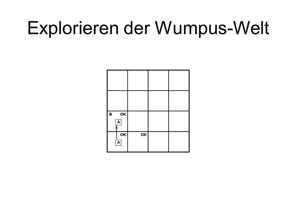 WB enthält bislang nur Physik der Wumpus-Welt Ort, Orientierung des Agenten fehlen Naiver Ansatz: –Agent auf Feld [i,j]: L i,j –Bewegung: Z.B.
