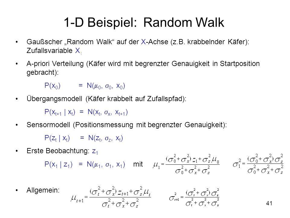41 1-D Beispiel: Random Walk