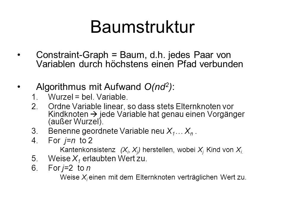 Baumstruktur Constraint-Graph = Baum, d.h.