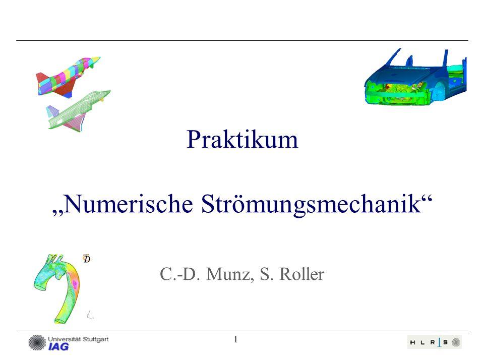 1 Praktikum Numerische Strömungsmechanik C.-D. Munz, S. Roller
