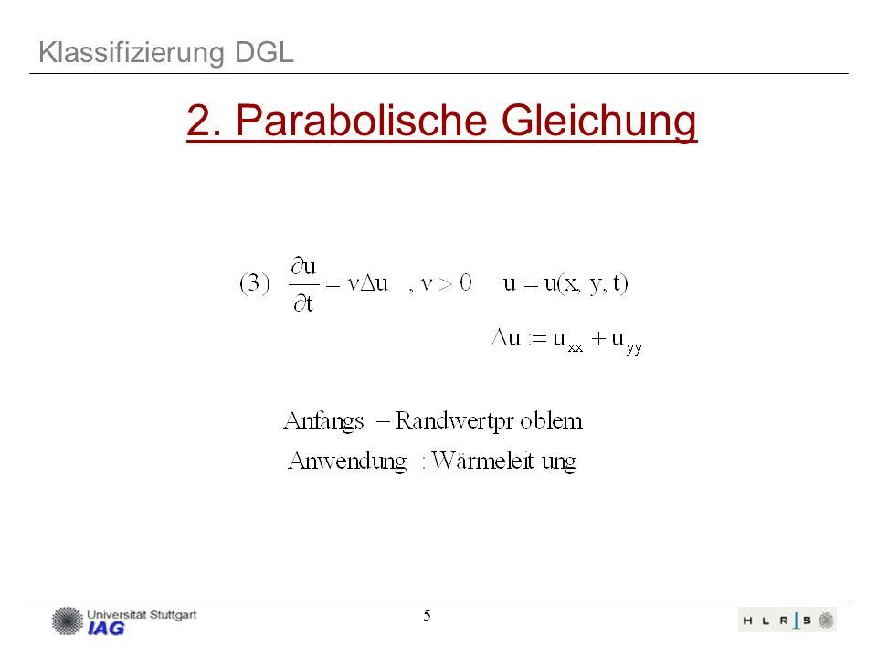 5 Klassifizierung DGL 2. Parabolische Gleichung