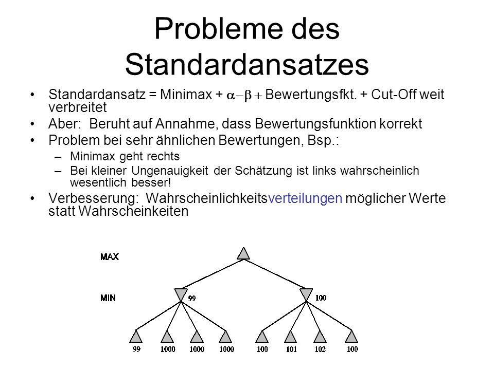 Probleme des Standardansatzes Standardansatz = Minimax + Bewertungsfkt. + Cut-Off weit verbreitet Aber: Beruht auf Annahme, dass Bewertungsfunktion ko