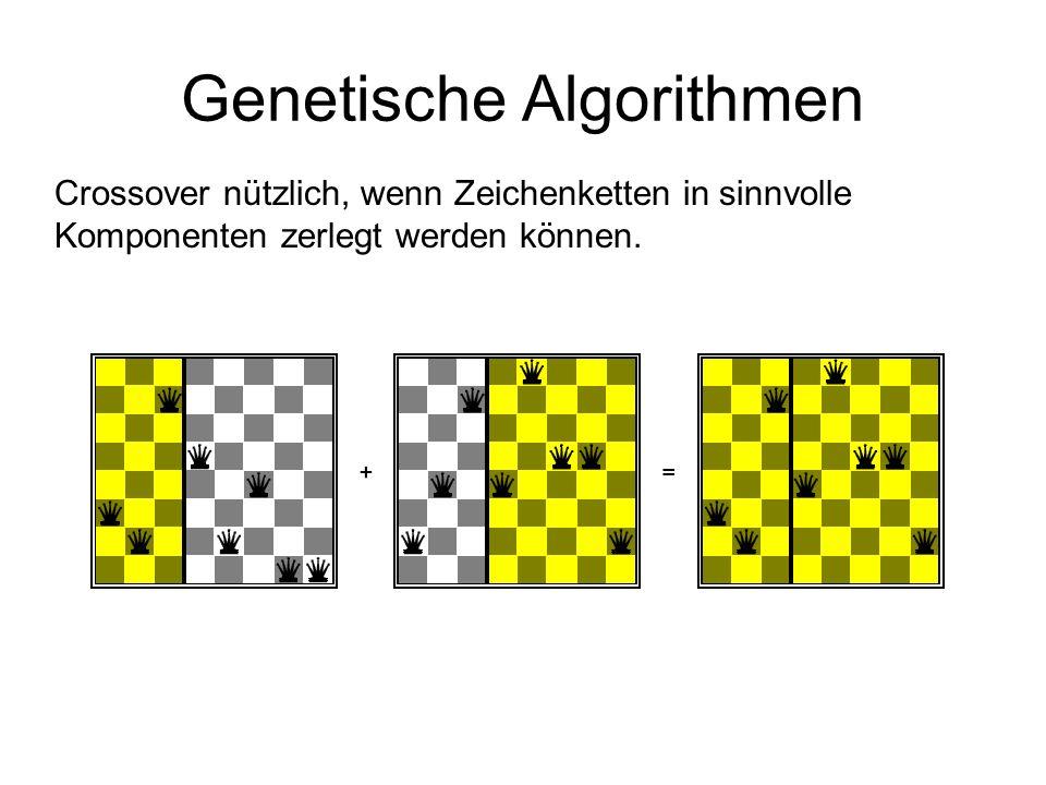Genetische Algorithmen Crossover nützlich, wenn Zeichenketten in sinnvolle Komponenten zerlegt werden können.