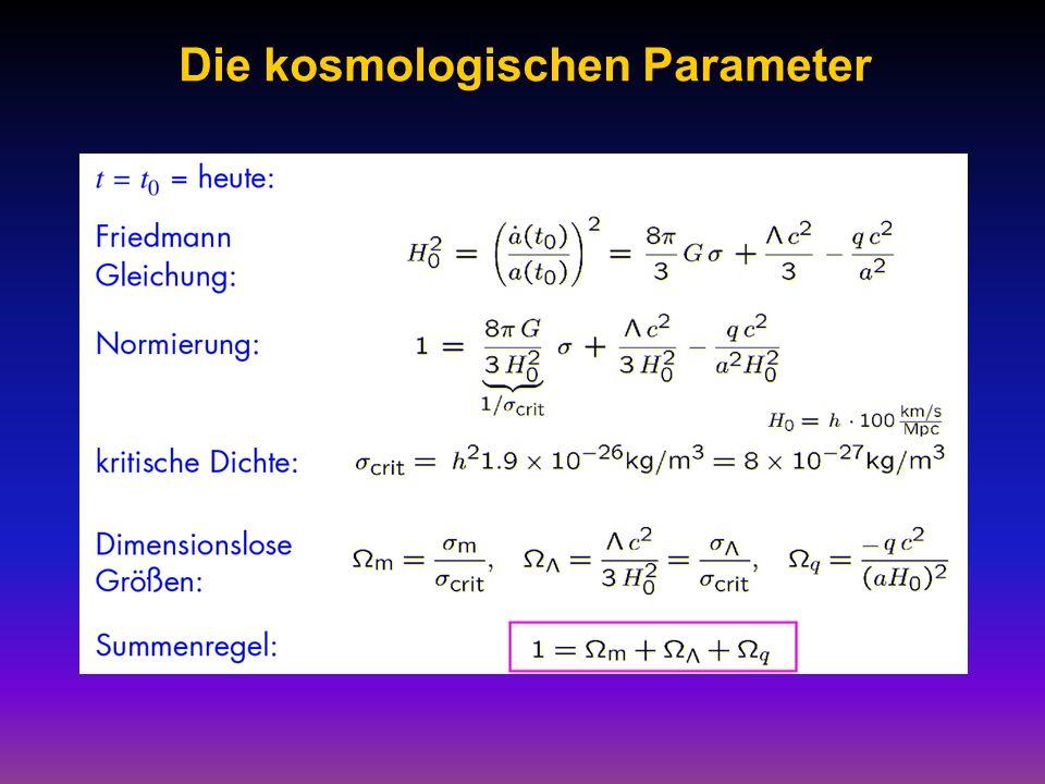 Die kosmologischen Parameter
