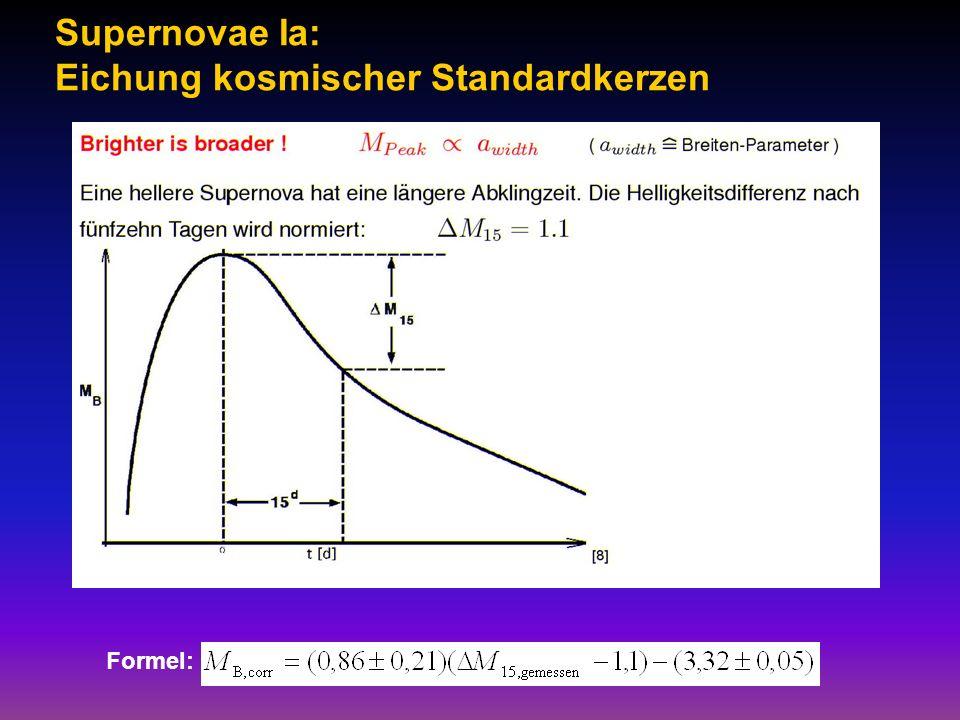 Supernovae Ia: Eichung kosmischer Standardkerzen Formel: