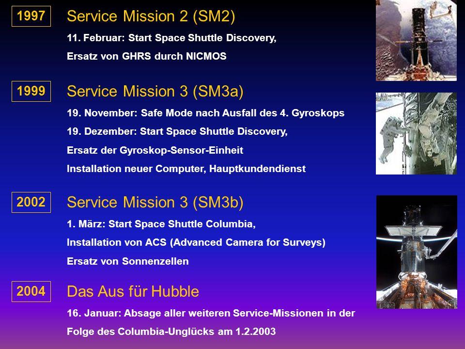 Länge: 13 m Durchmesser: 4 m Hauptspiegel: 2,4 m Sekundärspiegel: 0,3 m Masse: 11 Tonnen Auflösung: 1/20 Grenzhelligkeiten: 30 m Drei Kameras Diverse Spektrometer Frequenzbereich: Ultraviolett - Infrarot = 115 - 2500 nm Das Hubble-Weltraum-Teleskop Energiebedarf: 2,8 kW