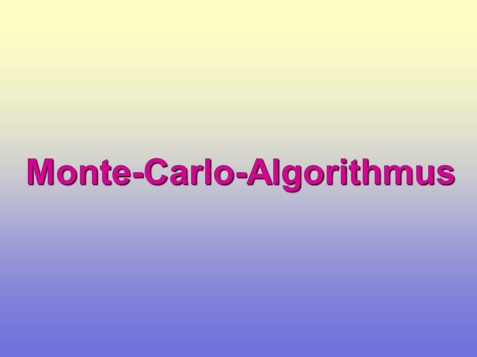 Metropolis-Algorithmus I System im stationären Gleichgewicht detailliertes Gleichgewicht E x E E y x y E w(x y) w(y x)
