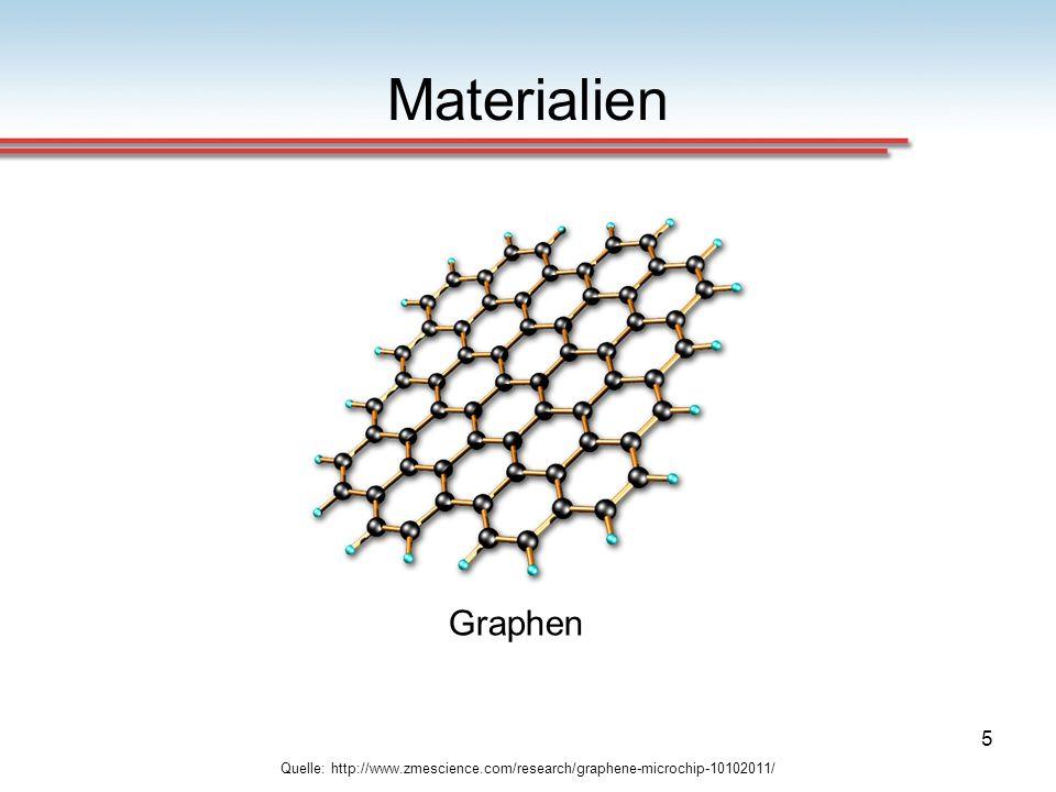 5 Materialien Quelle: http://www.zmescience.com/research/graphene-microchip-10102011/ Graphen