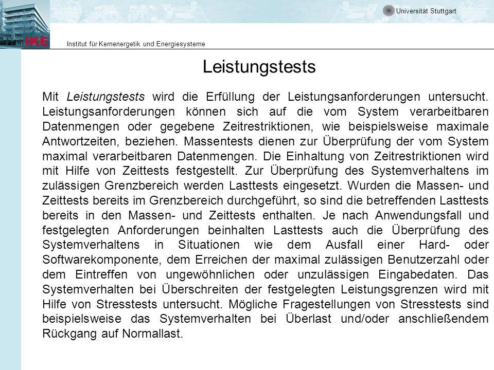 Universität Stuttgart Institut für Kernenergetik und Energiesysteme Sicherheitskritische Software Ein wichtiger Aspekt in der sicherheitskritischen Software- Entwicklung ist die Konsistenzprüfung.